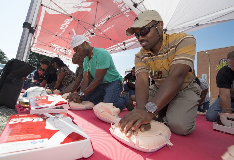 Hands-only CPR Training at Newport News Shipbuilding