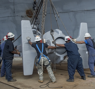 Video Release—Newport News Shipbuilding Installs USS Enterprise (CVN 65) Anchor on USS Abraham Lincoln (CVN 72)