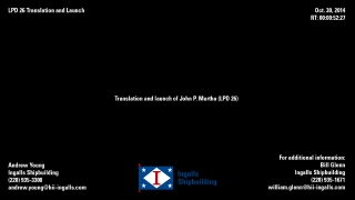 John P. Murtha (LPD 26) Translation and Launch