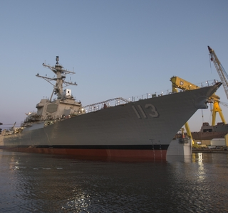 Video Release--Ingalls Shipbuilding Launches Guided Missile Destroyer John Finn (DDG 113)