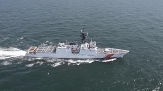 James (WMSL 754) Builder's Sea Trials
