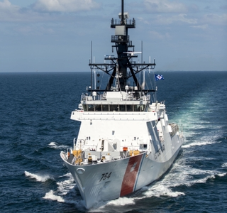 Photo Release--Ingalls Shipbuilding Delivers National Security Cutter James to the U.S. Coast Guard