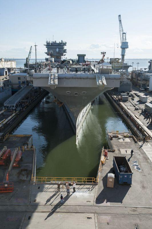 Enterprise (CVN 65) Enters Dry Dock 11