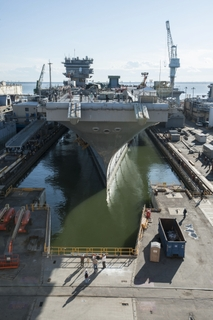 Enterprise (CVN 65) Enters Dry Dock 11