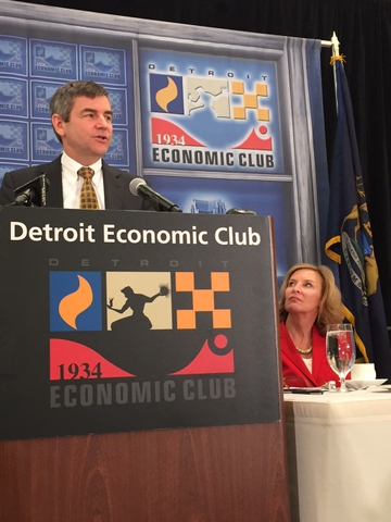 Mike Petters at the Detroit Economic Club