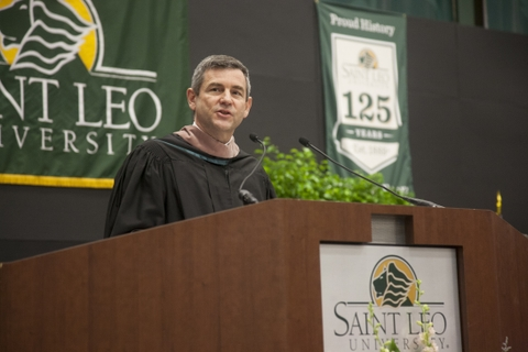 Mike Petters speaks at St. Leo University