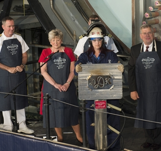 Photo Release--Newport News Shipbuilding Celebrates the Keel-Laying of Virginia-Class Submarine Indiana (SSN 789)