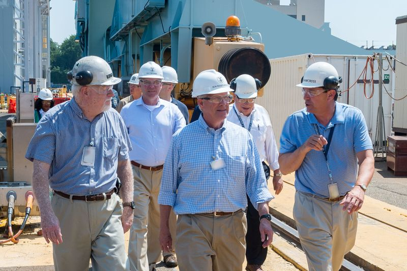 Senators Tim Kaine and Roger Wicker Visit Newport News Shipbuilding