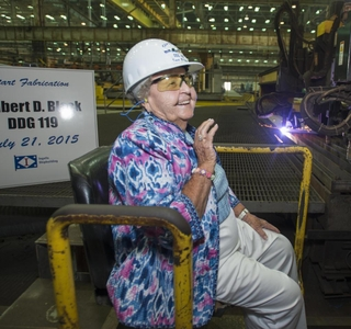 Photo Release--Ingalls Shipbuilding Begins Fabrication of Destroyer Delbert D. Black (DDG 119)