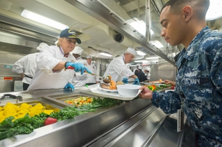 Susan Ford Bales Serves Sailors