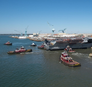 USS Abraham Lincoln Floats Free