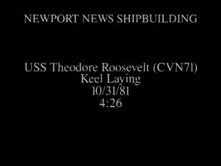 Roosevelt Keel-Laying