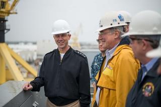 CNO Richardson Visits Ingalls Shipbuilding