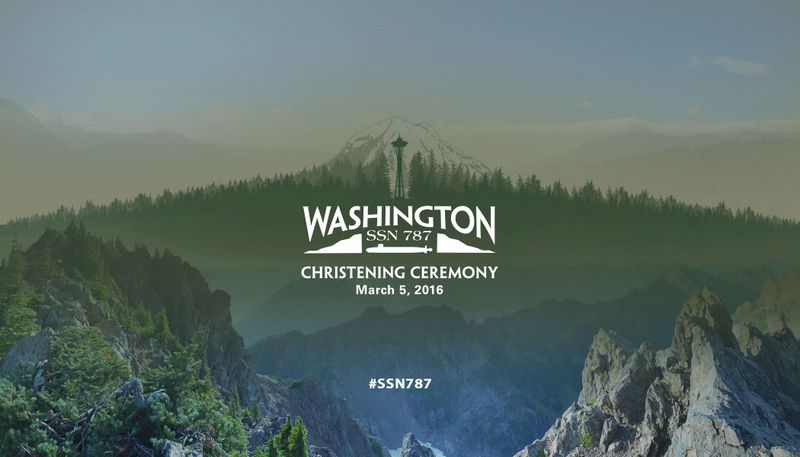Washington (SSN 787) Christening