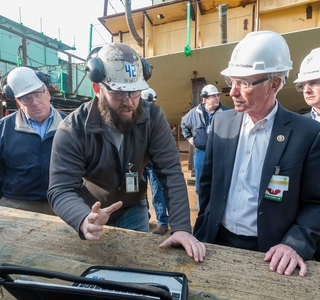 Photo Release--HII Hosts Rep. Joe Courtney at Newport News Shipbuilding
