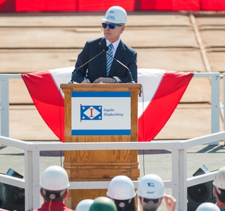 Photo Release--Huntington Ingalls Industries Hosts Secretary of the Navy Ray Mabus at Ingalls Shipbuilding