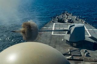 MK Naval Gun System Testing