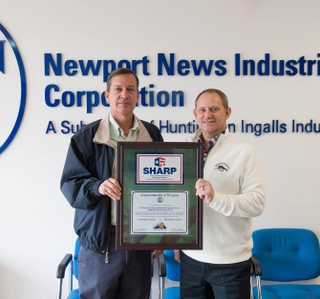 Photo Release--OSHA Recognizes Newport News Industrial At HII for Safety And Health Achievement