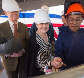 Photo Release--Ingalls Shipbuilding Authenticates Keel of Seventh National Security Cutter, Kimball (WMSL 756)
