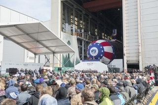 Washingon (SSN787) Christened at Newport News Shipbuilding