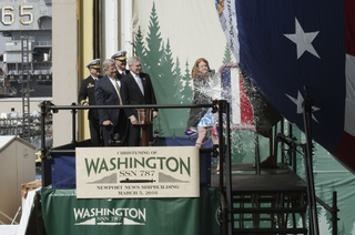 Washington (SSN787) is Christened