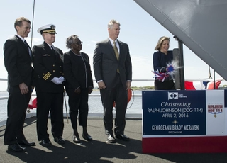 Ralph Johnson (DDG 114) is Christened