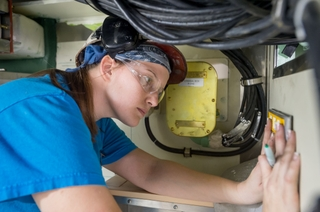 Ashley Pettit Works on the Habitability Module