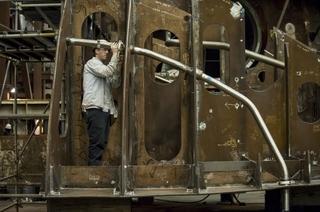 Eric Schmidt Installs a Pipe Hanger