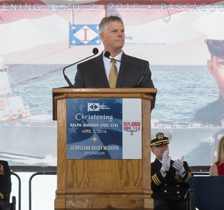 Ralph Johnson (DDG 114) Christening Remarks