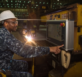 Photo Release--Ingalls Shipbuilding Begins Fabrication of Destroyer Frank E. Petersen Jr. (DDG 121)