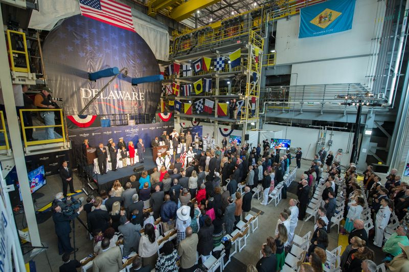 Delaware (SSN 791) Keel Laying Ceremony