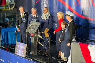 Dr. Jill Biden's Initials Welded for Delaware (SSN 791)