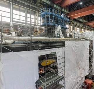 Photo Release--Virginia-Class Submarine Indiana Construction Advances with Pressure Hull Complete Milestone