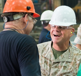 Photo Release--Huntington Ingalls Industries Hosts Marine Corps Commandant Gen. Robert Neller At Ingalls Shipbuilding