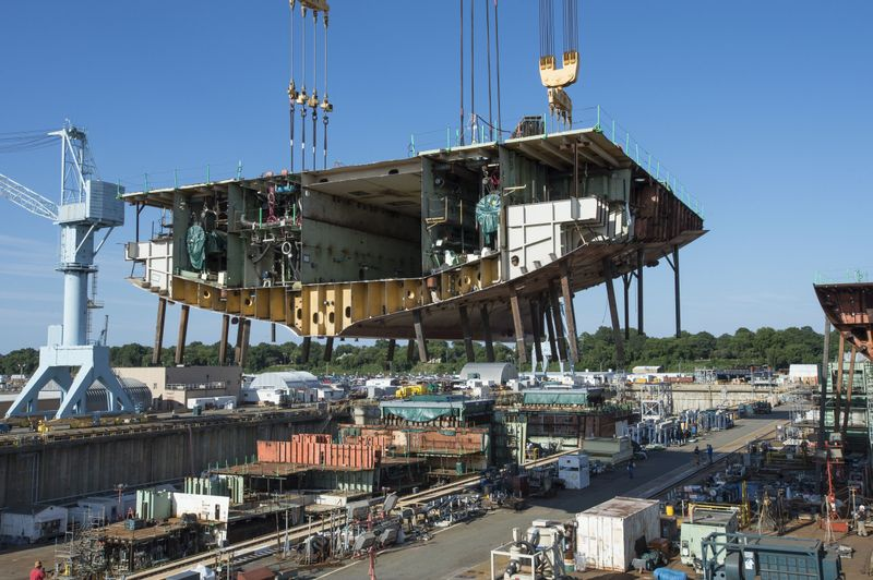 John F. Kennedy (CVN 79) Superlift