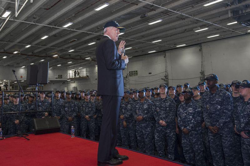 Mabus Visits Newport News Shipbuilding