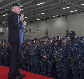Photo Release--Huntington Ingalls Industries Hosts Secretary of the Navy Ray Mabus at Newport News Shipbuilding