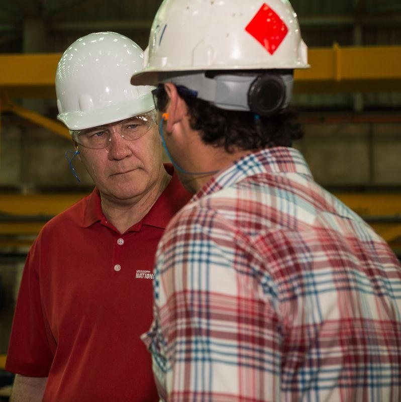 Rep. Trent Kelly Tours Ingalls Shipbuilding