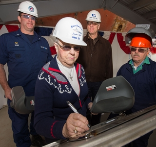 Photo Release--Huntington Ingalls Industries Authenticates Keel of National Security Cutter Midgett (WMSL 757)