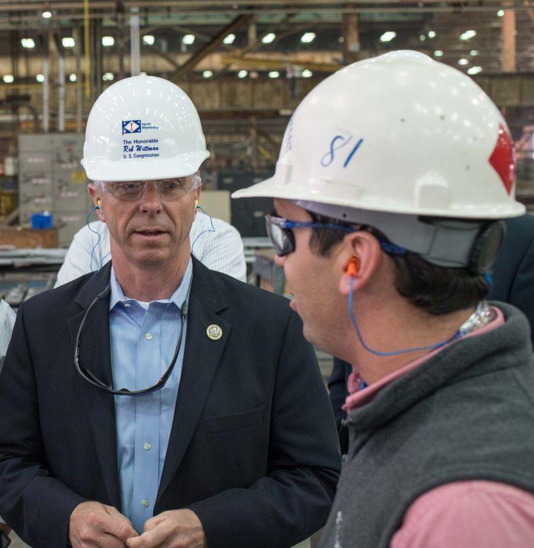 Rep. Rob Wittman Visits Ingalls Shipbuilding
