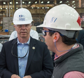 Photo Release--Reps. Wittman and Palazzo Visit Huntington Ingalls Industries' Ingalls Shipbuilding Division
