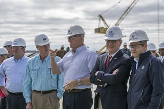 Secretary of the Navy Visits Ingalls