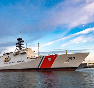 Photo Release--Huntington Ingalls Industries Launches  National Security Cutter Midgett