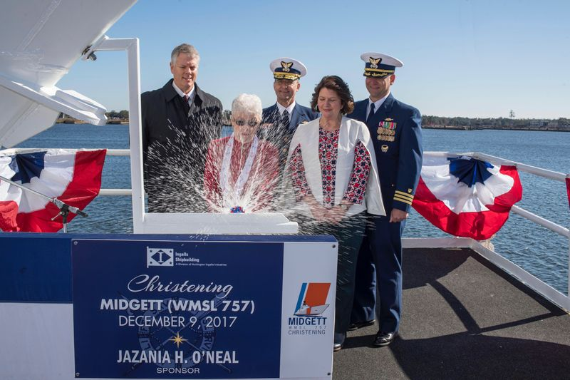 National Security Cutter Midgett Christened