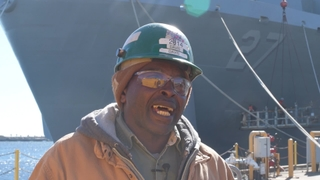 Winfred Davis, Pipe Welder on Portland (LPD 27)