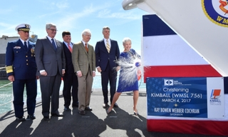 National Security Cutter Kimball is Christened