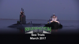 Washington (SSN 787) Sea Trials