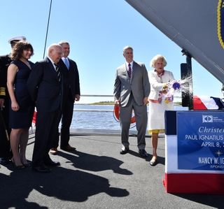 Photo Release--Huntington Ingalls Industries Christens Destroyer Paul Ignatius (DDG 117)