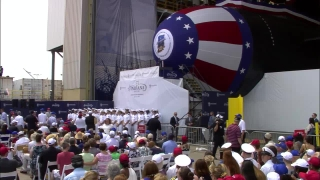 Diane Donald Christens Indiana (SSN 789)