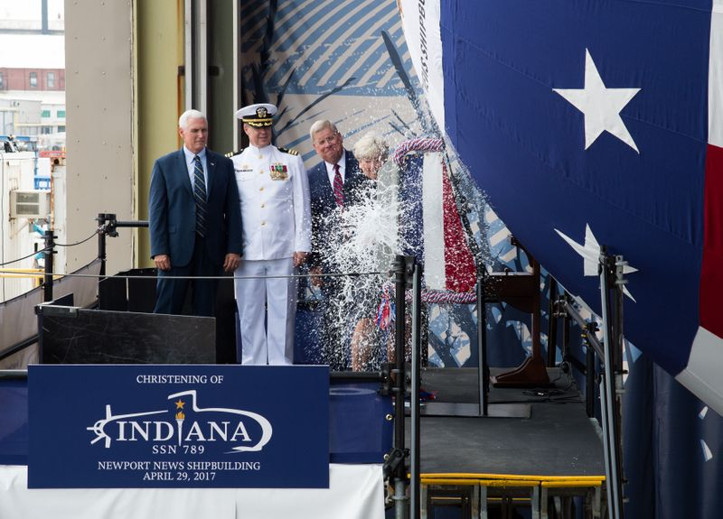 Indiana (SSN 789) is Christened